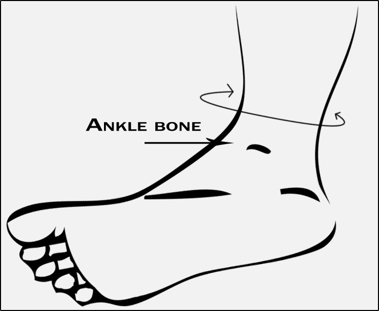 ankle bone for Donjoy Deluxe Elastic Ankle Support