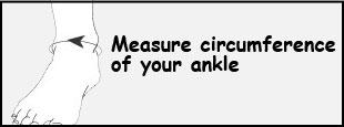 Donjoy canvas elastic ankle brace sizing