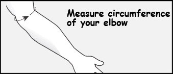 elbow circumference for spider elbow