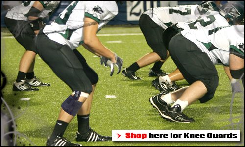lightweight football knee guards for injury protection