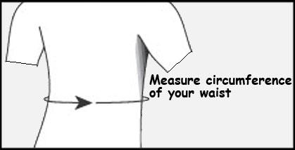 waist circumference for DJO lumbascral