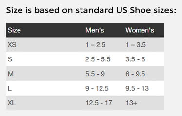 Progait plus sizing chart