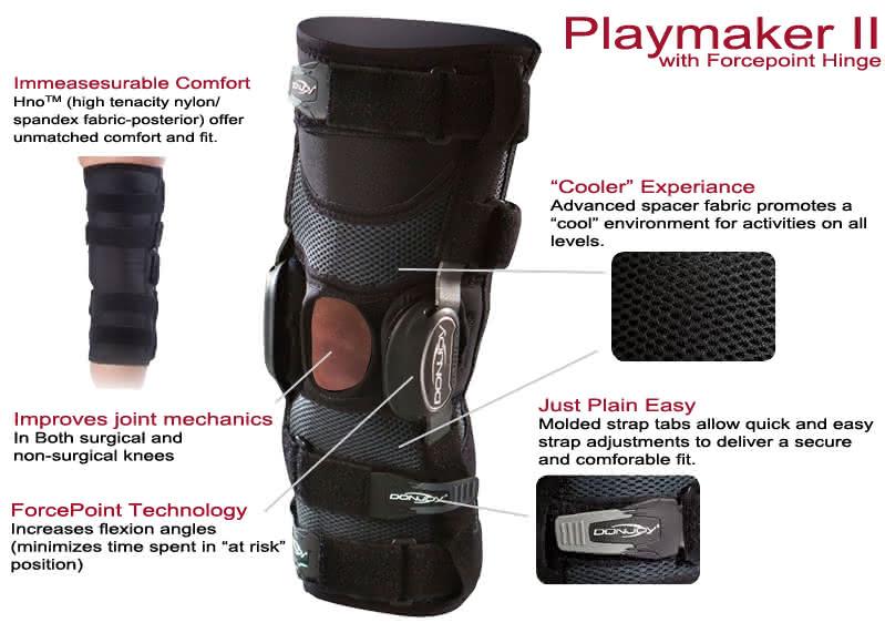 Donjoy Playmaker II Fourcepoint Knee Brace