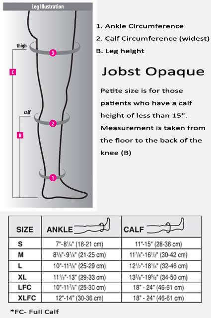 Jobst Opaque Knee High