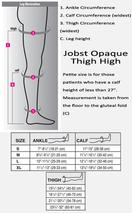Jobst Opaque Thigh High