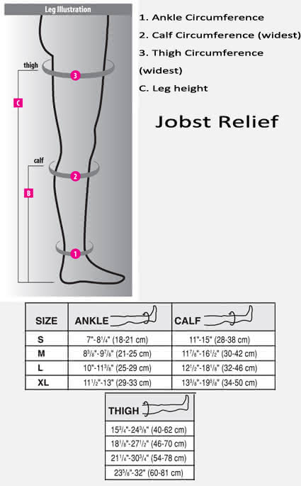 Jobst Relief Thigh High 30-40 w/ Silicone Band