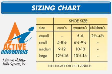 Active Ankle Multiphase Ankle Brace Sizing