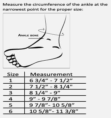 Bauerfeind MalleoTrain S Ankle Support Sizing