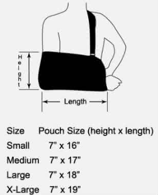 deroyal shoulder pad II immobilizer sizing
