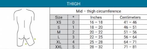 Bioskin Thigh Sleeve sizng