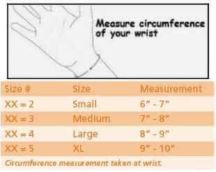 Breg Wrist Lacer Wrist Brace sizing