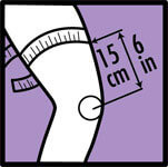 Donjoy Deluexe Elastic Knee sizing