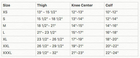 Donjoy TriFit Web Knee Brace sizing