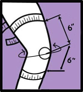 Donjoy Playmaker Wraparound Knee Brace sizing