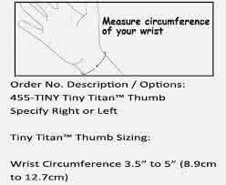 hely weber tiny titan thumb sizing