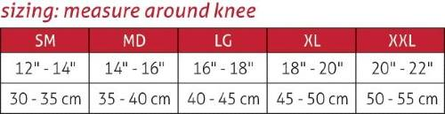 Mueller Hg80 Premium Knee Brace sizing