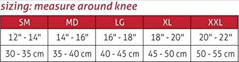 Mueller Hg80 Premium Knee Stabilizer sizing