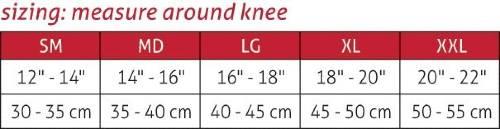 Mueller Omniforce Adjustable Knee Stabilizer KS 700 sizing
