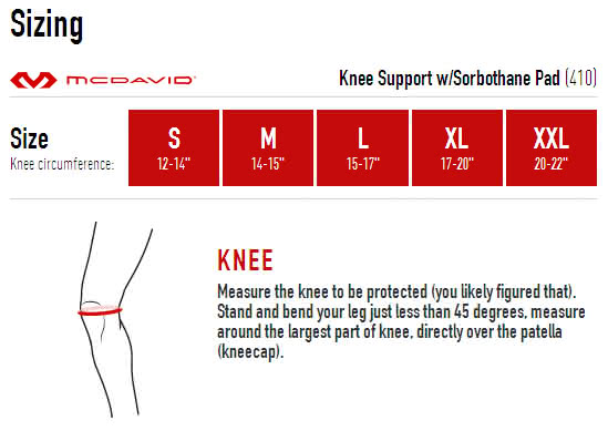 Mcdavid 410R Knee Support with Sorbothane Pad