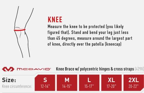 McDavid 429X Knee Brace w/ PSII hinges and cross straps